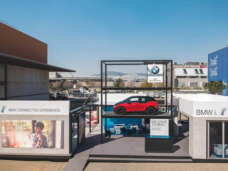 BMW Group op Mobile World Congress 2018.