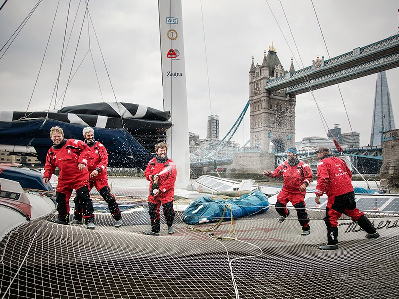 The record WSSRC has ratified the sailing record between Hong Kong and London established by Giovanni Soldini and the team Maserati Multi 70