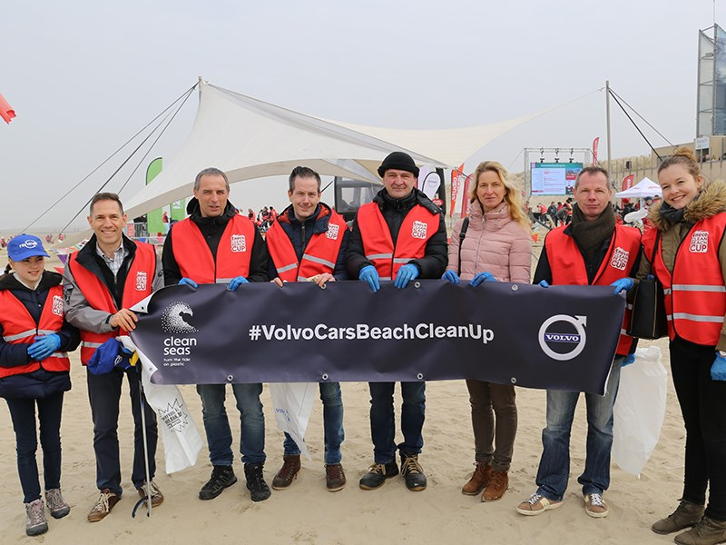 Volvo partner van Eneco Clean Beach Cup 2018