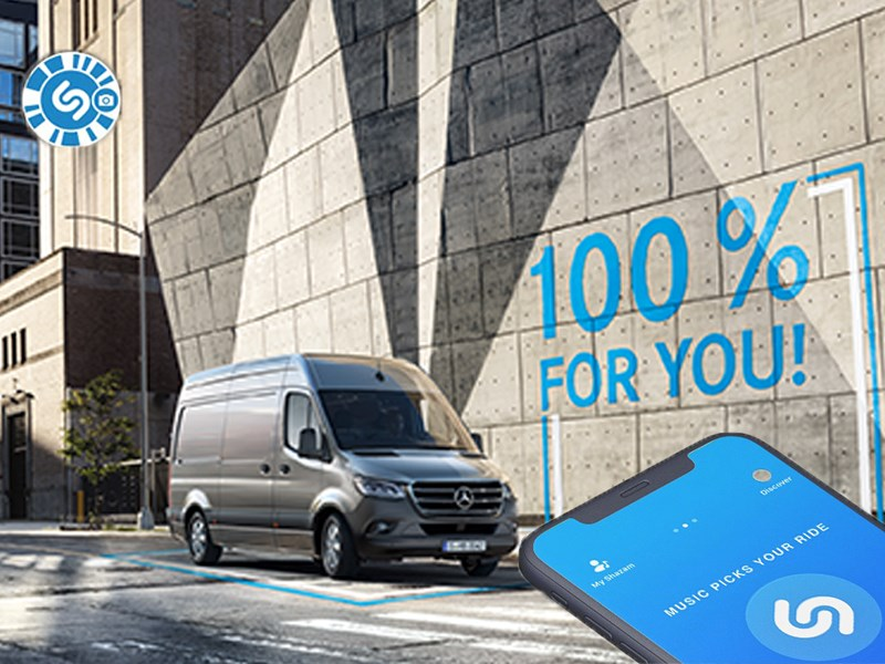 Mercedes-Benz Vans s'associe à Shazam pour l'activation de la campagne de son nouveau Sprinter