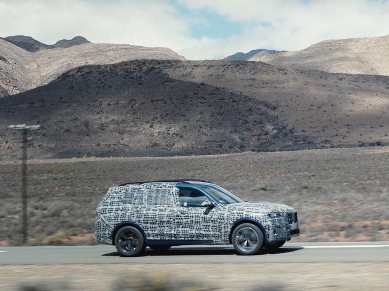 De nieuwe BMW X7 in beslissende testfase in extreme omstandigheden.