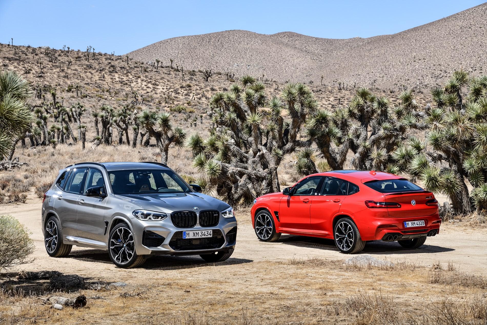 De nieuwe BMW X3 M en de nieuwe BMW X4 M.