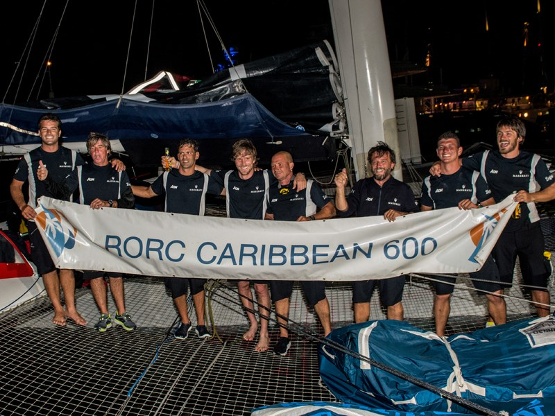 Maserati Multi 70 and Giovanni Soldini were the first to cross the finish line of the RORC Caribbean 600