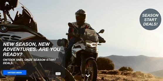 New Season, New Adventures. Are your ready ? Ontdek snel onze Season Start Deals.