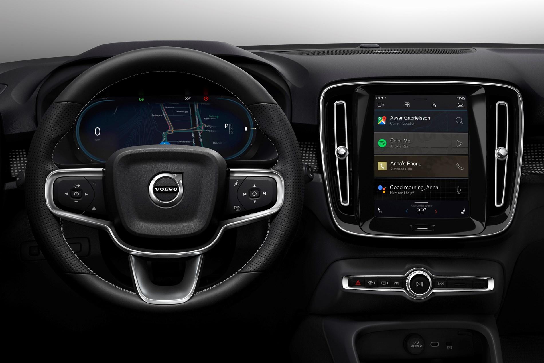 Volledig elektrische Volvo XC40 introduceert gloednieuw Android-infotainmentsysteem met geïntegreerde Google-technologieën