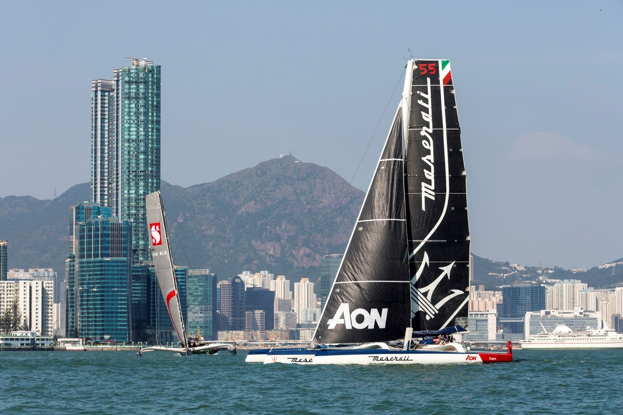 Maserati Multi 70 and Giovanni Soldini set sail for the Royal Hong Kong Yacht Club Nha Trang Rally