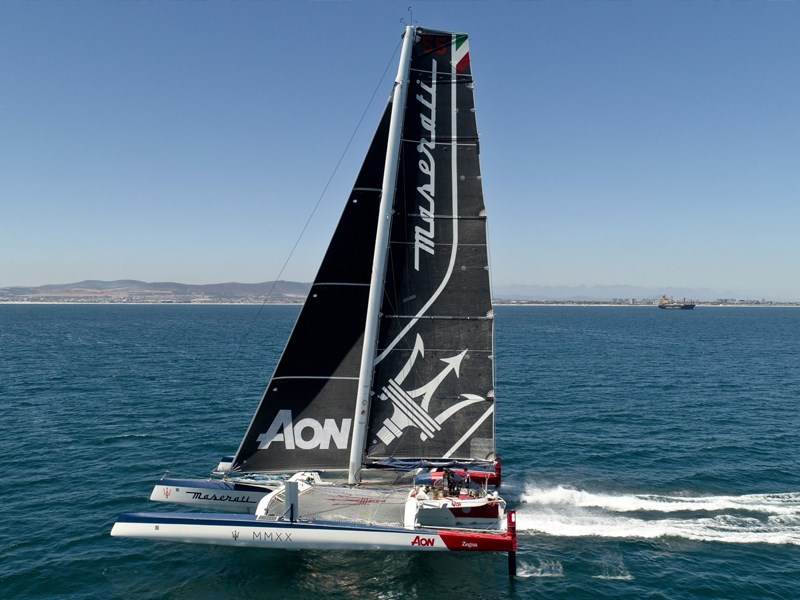 Maserati Multi 70 and Giovanni Soldini will set sail at 14.30 local time for the 16th edition of the Cape2Rio
