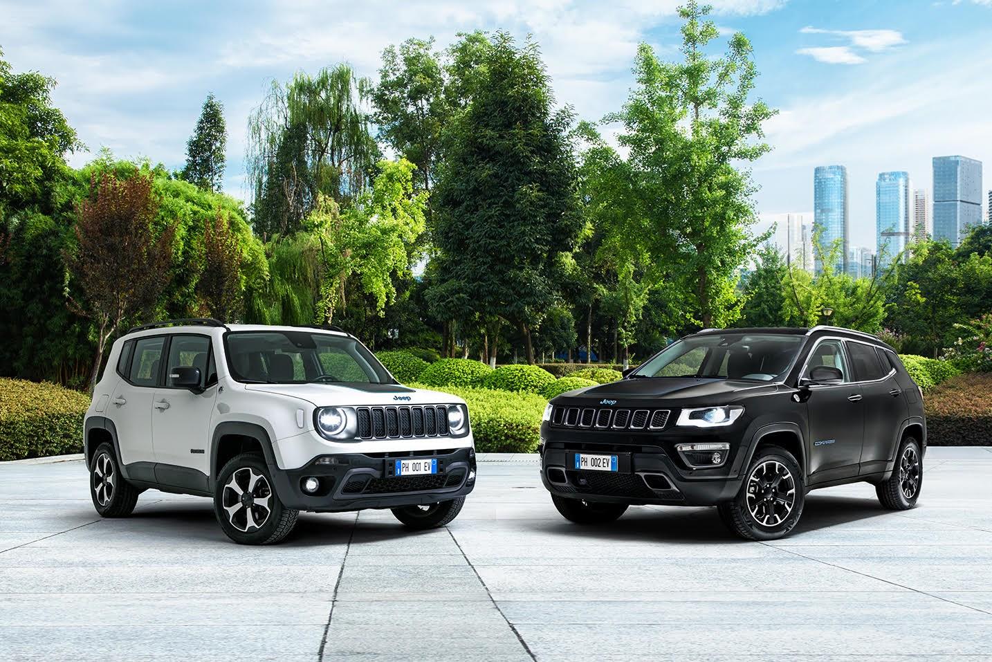 Jeep® Renegade en Compass 4xe 'First Edition': de nieuwe oplaadbare hybridemodellen (PHEV) van Jeep - Gent Motors