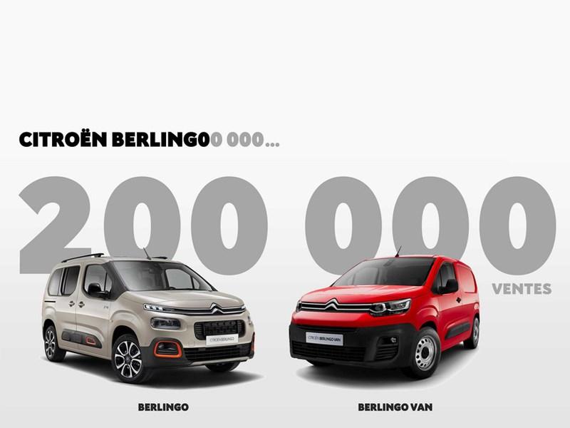 Citroën Berlingo: al 200.000 verkochte exemplaren