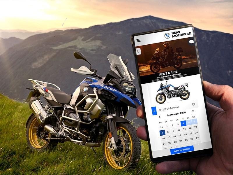 BMW Motorrad breidt RENT A RIDE verder uit