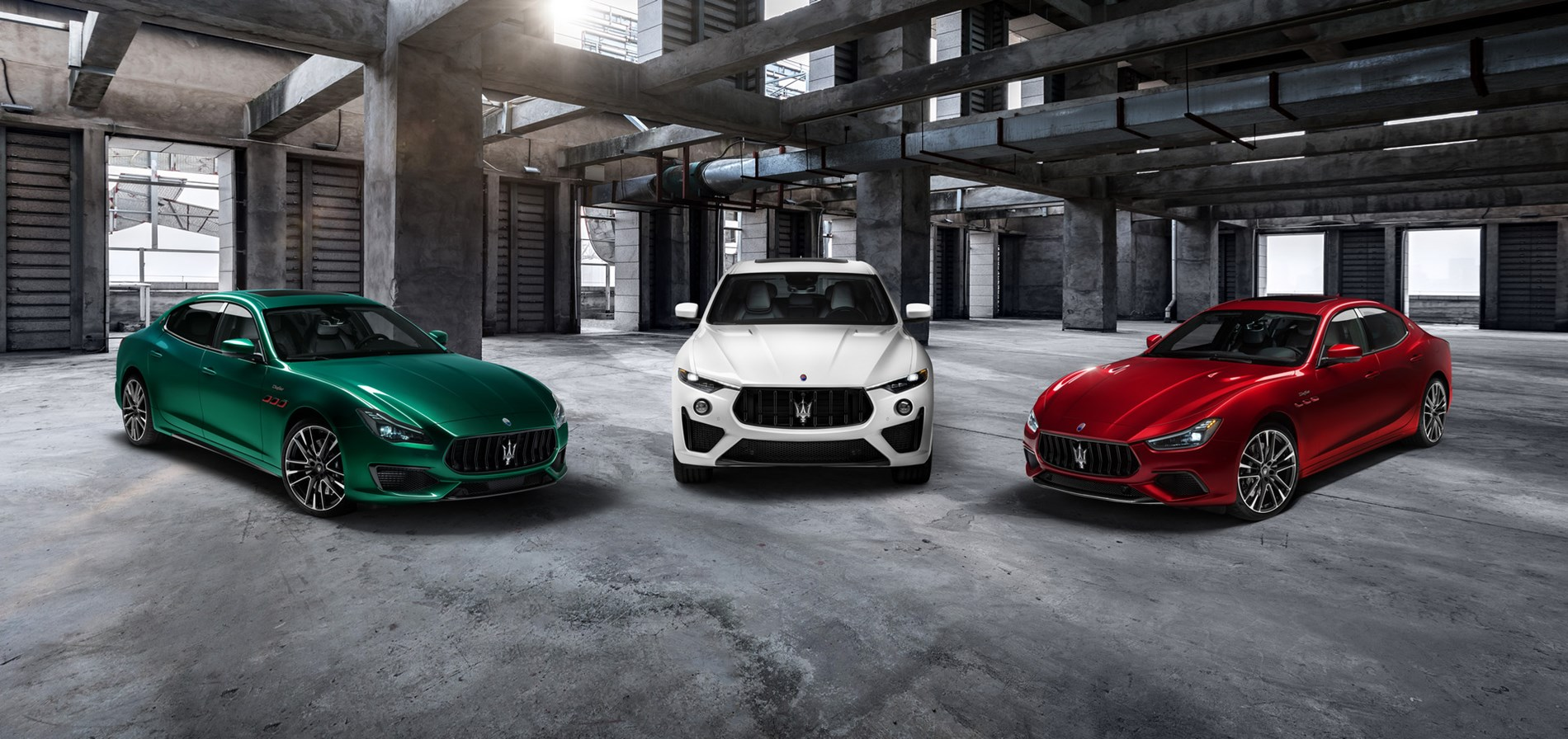 With the new Trofeo collection, Ghibli and Quattroporte are transformed into Maserati super-sedans