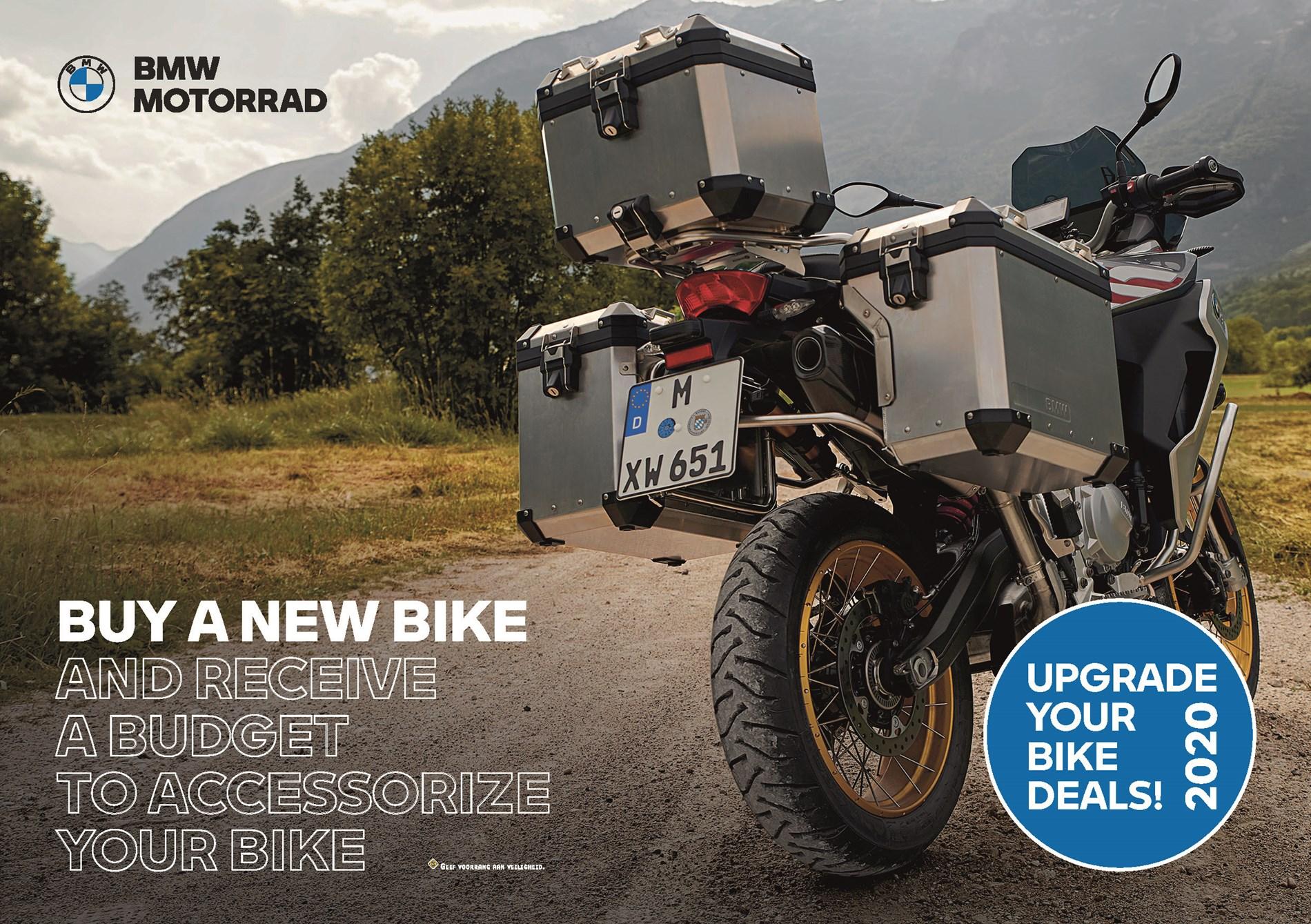 BMW MOTORRAD UPGRADE YOUR BIKE DEALS 2020.