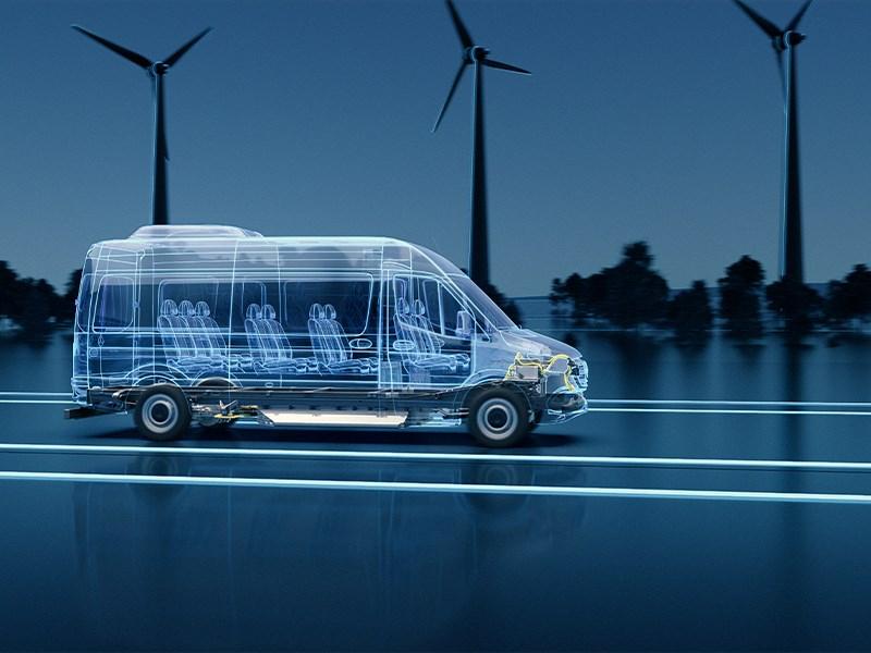 Van Houdt Volgende generatie eSprinter van Mercedes-Benz Vans op nieuw 'Electric Versatility Platform'