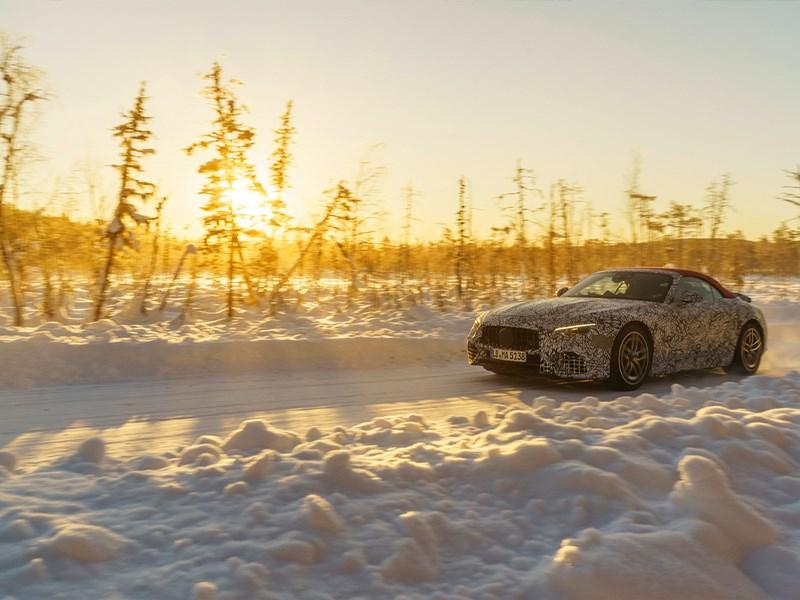 Nieuwe Mercedes-AMG SL ondergaat laatste wintertests