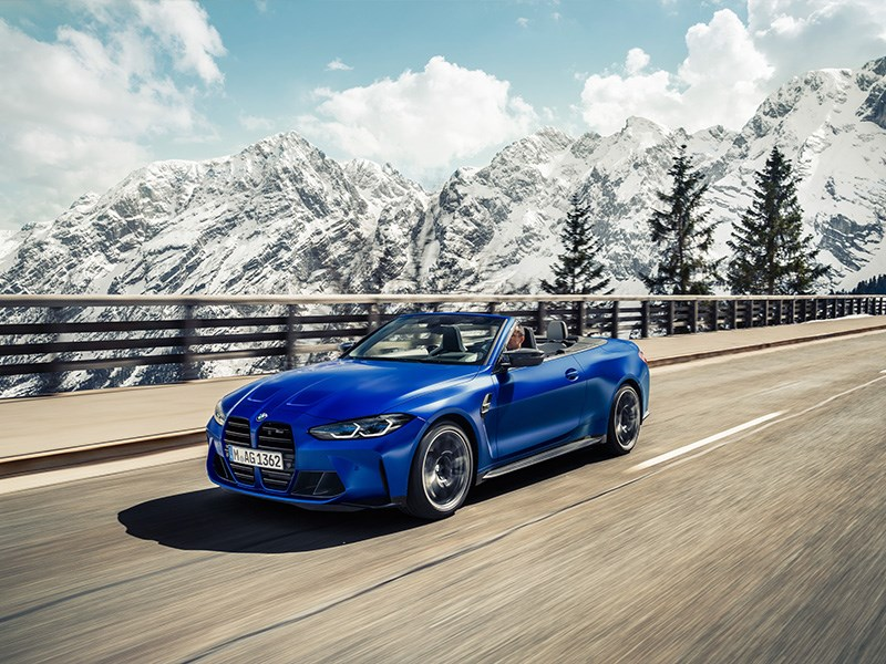 De nieuwe BMW M4 Competition Cabrio met M xDrive.