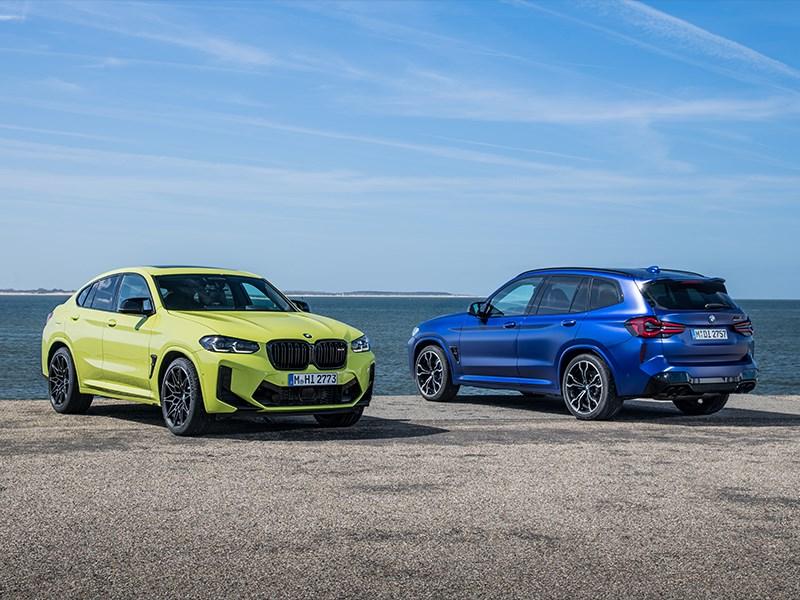 De nieuwe BMW X3 M Competition en de nieuwe BMW X4 M Competition.