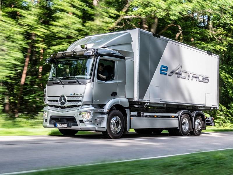 De wereldpremière van de Mercedes-Benz eActros