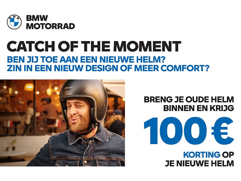 Catch of the moment : Nieuwe BMW helm