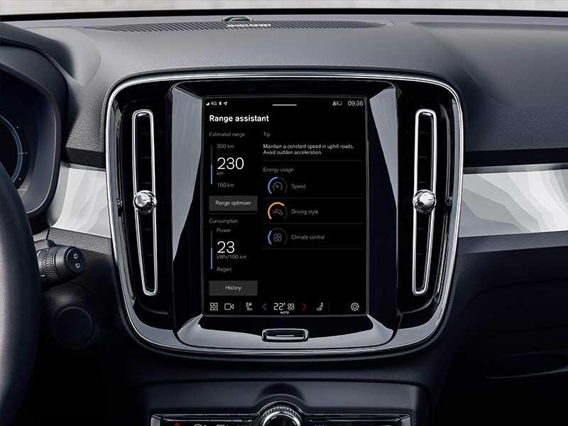 Optimaliseer de actieradius van uw volledig elektrische Volvo met de nieuwe Range Assistant-app in de nieuwste over-the-airupdate