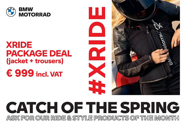 ACTIE : Catch of the Spring : XRIDE package deal