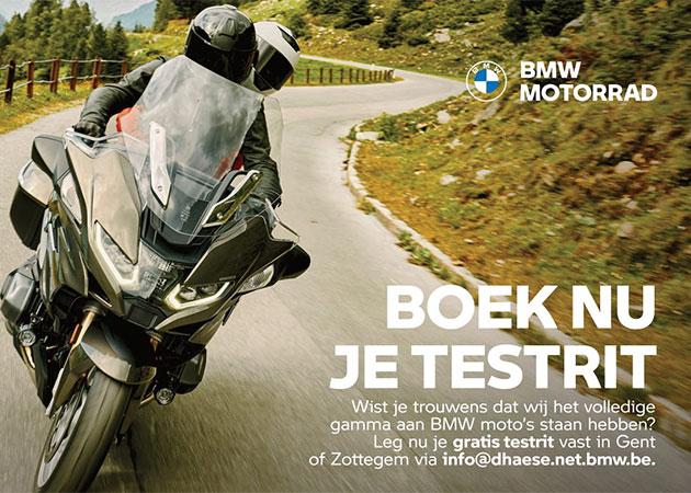 Boek nu je testrit met de BMW Motorfiets van je dromen